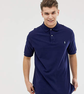 Big & Tall pique polo player logo in navy