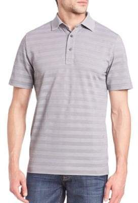 Saks Fifth Avenue Striped Cotton-Blend Polo