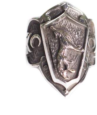 Express Falcon Jewelry 925 Sterling Silver Men ring, wolf wild life, Delivery