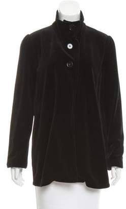 Sonia Rykiel Velvet Mock Neck Jacket