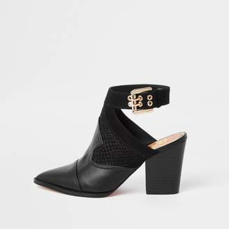 River Island Womens Black western pointed shoe boots