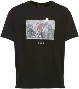 Michael Jordan Throw Back Flu Game Photo Print T-shirt