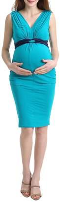 Kimi + Kai Gathered Maternity Bodycon Dress