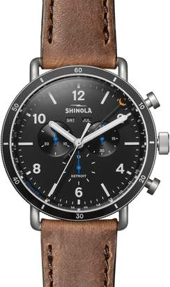 Shinola The Canfield Sport - Alan Bean Special Edition Chrongraph Leather Strap Watch