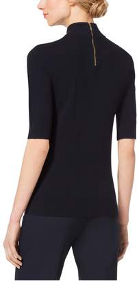 Michael Kors Brooch-Embroidered Wool and Cashmere Sweater