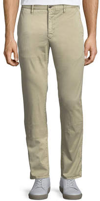 Incotex Men's 1st Washed Chino Flat-Front Trousers