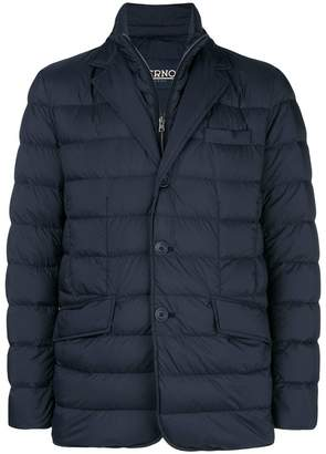 Herno padded single breasted jacket