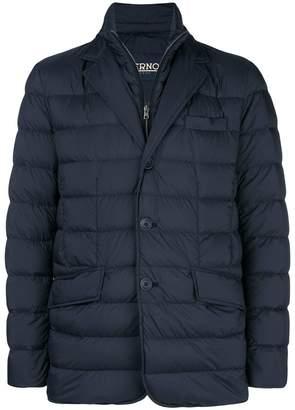 Herno padded single breasted jacket