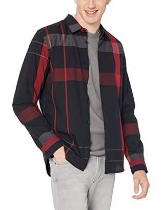 GUESS Men's Long Sleeve Canyon Plaid Shirt
