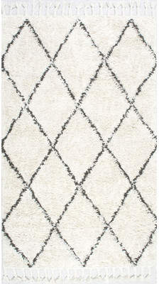Langley Street Twinar Hand-Knotted Wool Off White/Dark Grey Area Rug