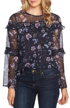 CeCe Bloomsbury Tiered Ruffle Blouse