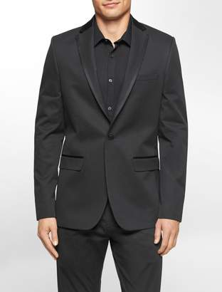 Calvin Klein slim fit satin trim dobby jacket