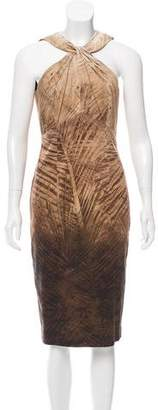 Les Copains Palm Print Twist Neck Dress w/ Tags