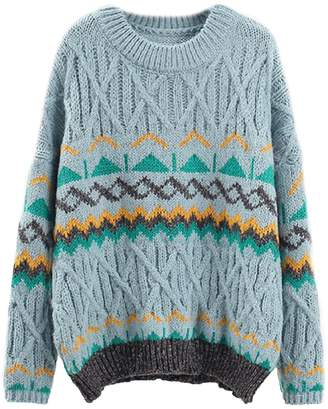 Goodnight Macaroon 'Joya' Aztec Pattern Cable Knit Sweater (3 Colors)