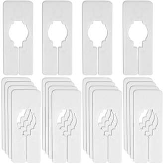Blulu 20 Pack Blank Clothing Rack Size Dividers Rectangular Closet Dividers for Home or Cloth Store