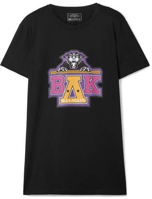 Balmain Beyoncé Coachella Printed Cotton-jersey T-shirt - Black