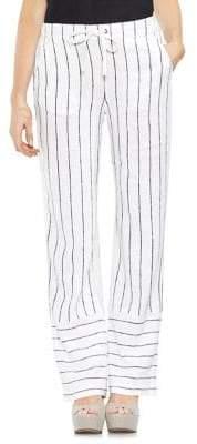 Vince Camuto Wide-Leg Pinstripe Pants