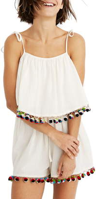 Madewell Pompom Cover-Up Romper