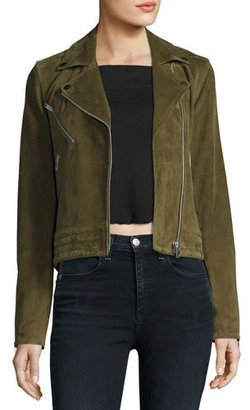 rag & bone/JEAN Mercer Suede Moto Jacket, Dark Olive $1,095 thestylecure.com