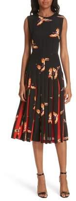 Diane von Furstenberg Talita Bird Print Silk Dress