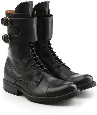 Fiorentini+Baker Elk Leather Boots with Lace-Up Front