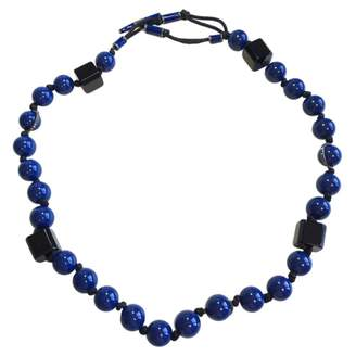 Lanvin Blue Plastic Necklace