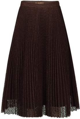 Jolie Moi Lace Pleated A-line Skirt