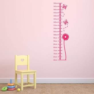 Mirrorin Flower Height Chart Wall Sticker