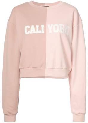 Cynthia Rowley Cali York split sweatshirt