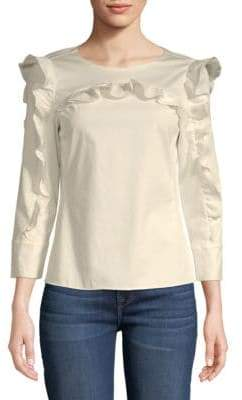 Rebecca Taylor Ruffled Long-Sleeve Blouse