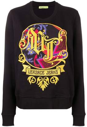 Versace barroque embroidered sweater