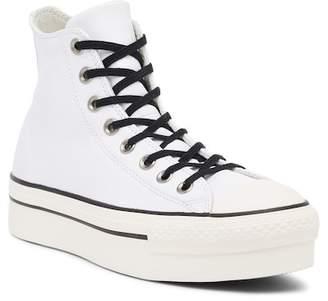 Converse Chuck Taylor All Star Leather Platform High Top Sneaker (Women)