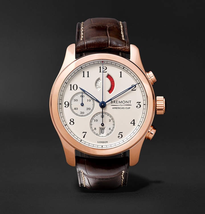 Bremont America's Cup Regatta Chronograph 43mm Rose Gold and Alligator Watch