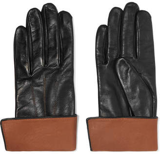 Agnelle Leather Gloves - Black