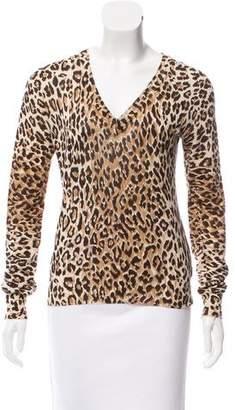 Dolce & Gabbana Printed V-Neck Sweater