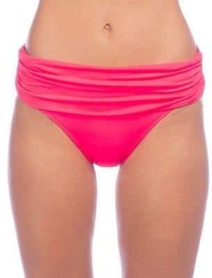 Lauren Ralph Lauren Shirred Hipster Bikini Bottoms