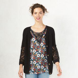 Women's LC Lauren Conrad Crochet Cardigan $60 thestylecure.com