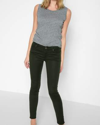 7 For All Mankind B(air) Color Ankle Skinny in Bottlegreen