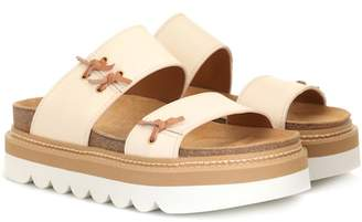 See by Chloe Leather platform slides
