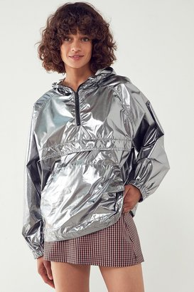 Silence + Noise Iridescent Packable Windbreaker Jacket $79 thestylecure.com