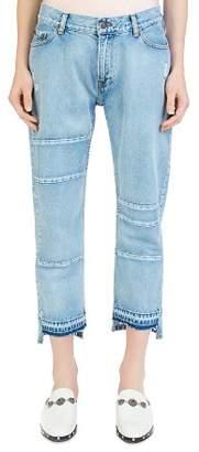 The Kooples Nory Step-Hem Jeans in Light Blue