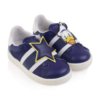 Master Of ArtsDisney Blue Leather & Mesh Donald Duck Trainers