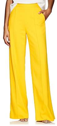 Lisa Perry Women's Crepe Wide-Leg Trousers - Yellow