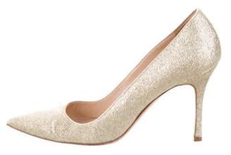Manolo Blahnik Glitter BB Pumps