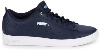 Puma Smash Perforated Leather Sneakers