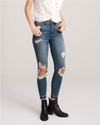 Abercrombie & Fitch Ripped High Rise Ankle Jeans