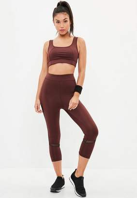 Missguided Active Burgundy Cropped Legging