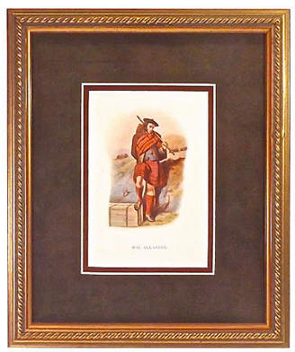 One Kings Lane Vintage Mac Allister Scottish Costume Engraving - Vermilion Designs