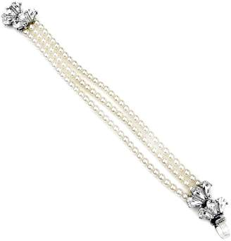 Ben-Amun 'Cascading Crystal' Glass Pearl Strand Bracelet