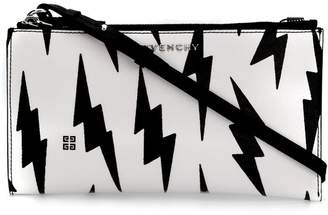 lightning print cross-body bag